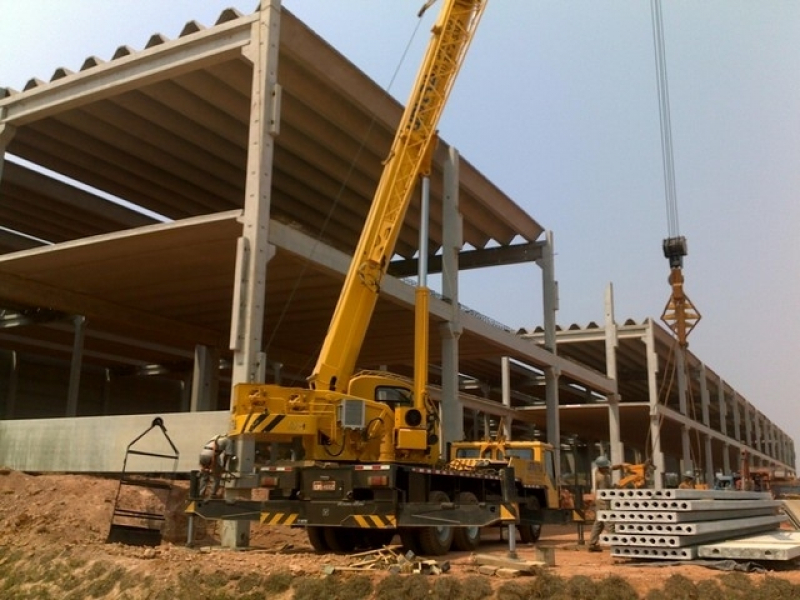 Distribuidor de Estrutura Pré Moldada Concreto Armado Galpão Blumenau - Estrutura Pré-moldada para Galpão