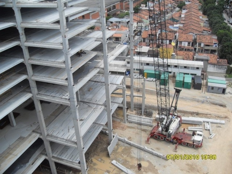 Estrutura Pré Moldada Concreto Armado Galpão Boituva - Estrutura Pré Moldada Galpão Industrial